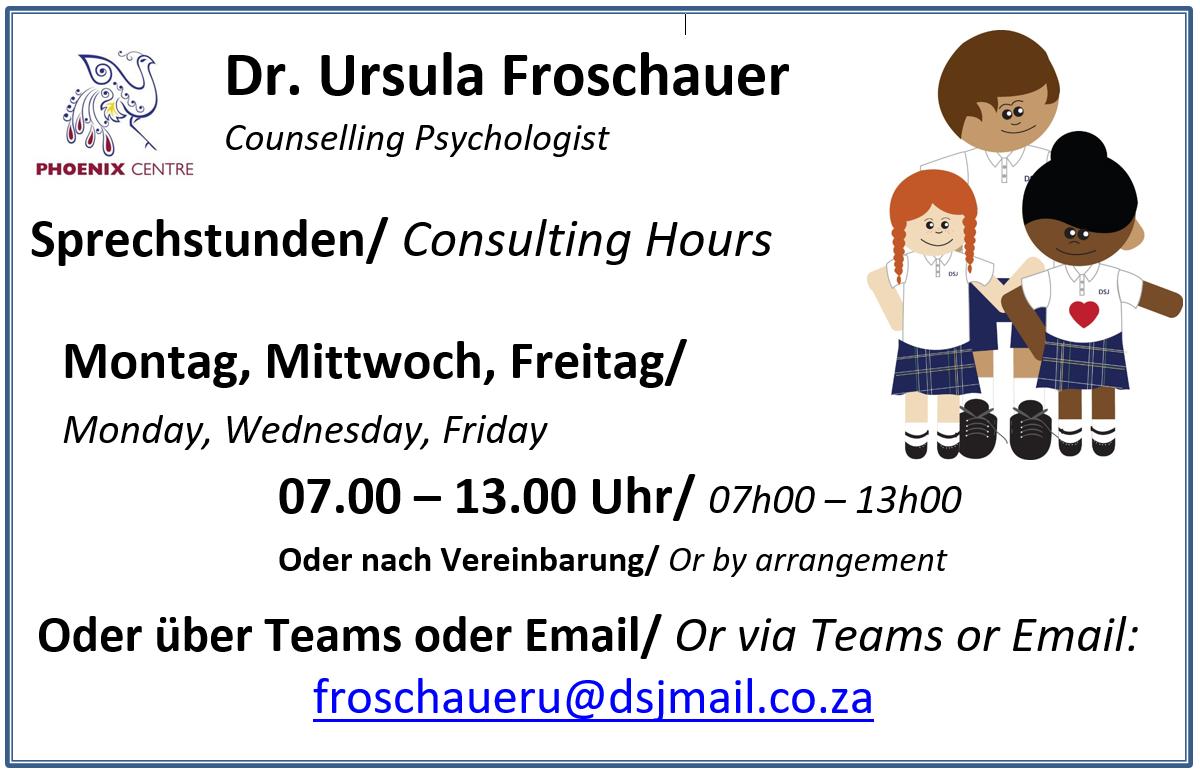 Psychologin - Dr Froschauer - Bürozeiten